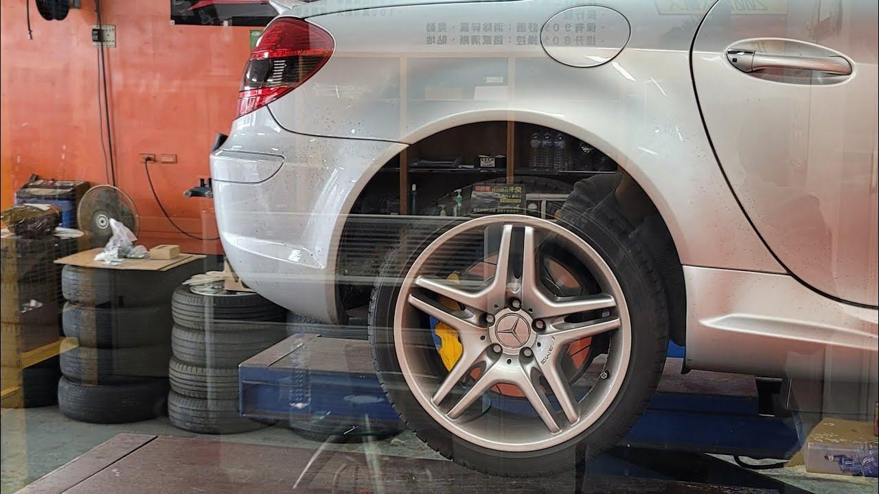 小王子說車 Mercedes Benz SLK R171,更換卡鉗碟盤,換裝升級330畫線碟+六活塞卡鉗,驚人的制動力提升,愛用國產貨,經典賓士雙門敞篷跑車 SLK280