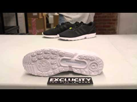 Adidas ZX Flux White/White Unboxing Video at Exclucity