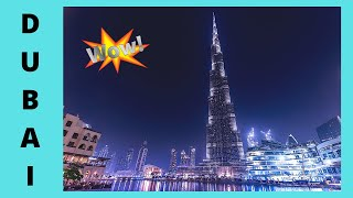 DUBAI, striking CHRISTMAS LIGHT SHOW, world's tallest skyscraper (BURJ KHALIFA)