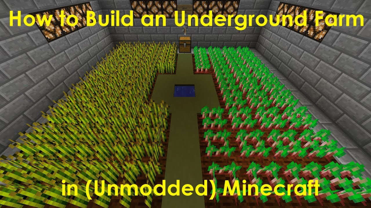 How To Build An Underground Farm In Minecraft Levelskip