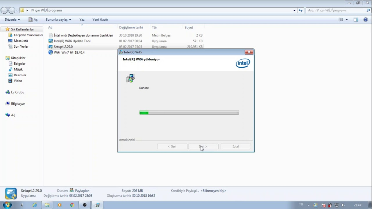 intel widi windows 7 kurulumu - Bilgisayardan TV ye kablosuz görüntü  aktarımı