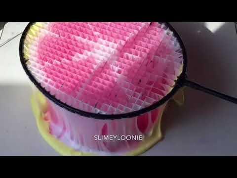 Relaxing Slime ASMR Tennis Racket Pressing Compilation / CRUNCHY SLIME  #1