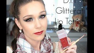DIY Glitterati Lip Tattoo
