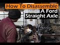 How To Separate Rusty Stuck Bolts  Disassembling An Early Ford Straight Axle