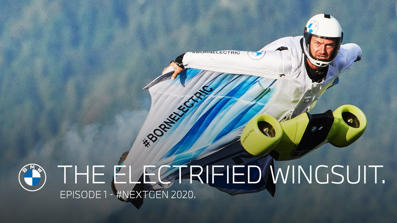 宝马为人类飞行开发了第一套电动翼服