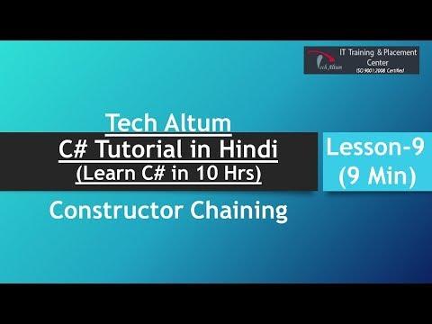 constructor chaining   constructor chaining in c#