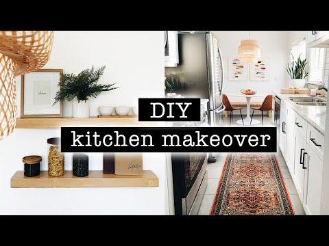 DIY KITCHEN MAKEOVER & ORGANIZATION // Before + After Transformation