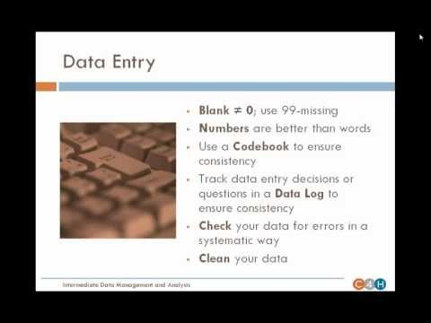 WEBINAR:  Intermediate Data Management and Analysis