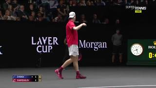 Shapovalov vs Zverev ● Laver Cup 2017 HD Highlights