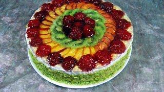 ФРУКТОВЫЙ ТОРТ  'ЛЕТО' / Такого торта вы ещё не пробовали, невероятно вкусный