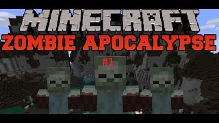 Сериал Minecraft Зомби Апокалипсис Уроки выживания #1 (не оригинал)