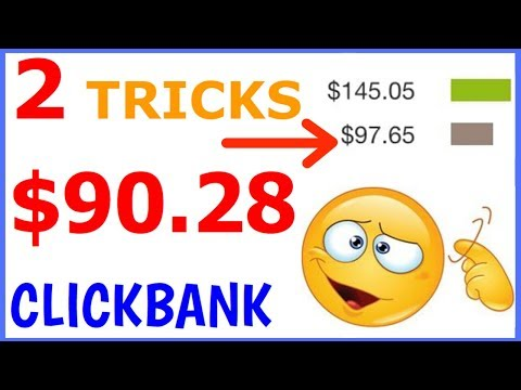 🔥 NEW 2 TRICKS $90.28 CLICKBANK : How To Make Money On Clickbank Fast (No Website Needed)