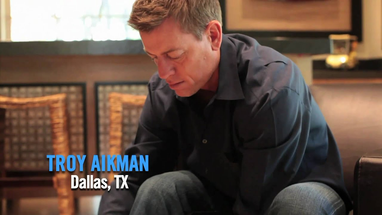 Troy Aikman GETS HIS BOOTS ON - YouTube
