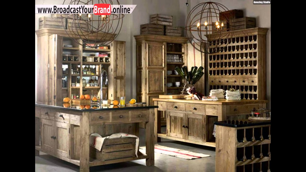 vintage k che einrichten ideen holzm bel youtube. Black Bedroom Furniture Sets. Home Design Ideas