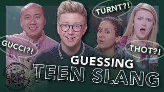 "adults guess current teen slang (""thot"", ""straight fire"", ""turnt"")"
