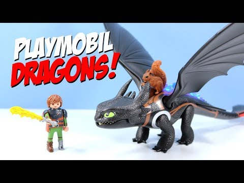 How to Train Your Playmobil Dragon Hiccup and Toothless