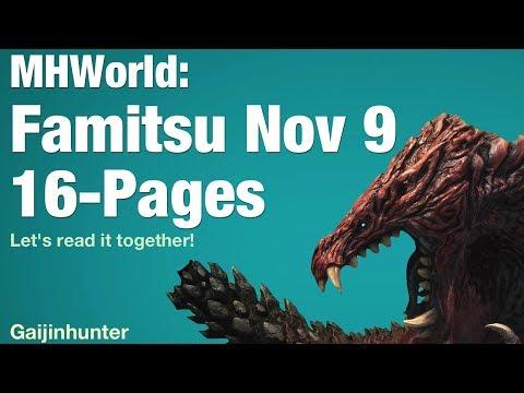 Monster Hunter World: Nov. 9 Famitsu News - YouTube