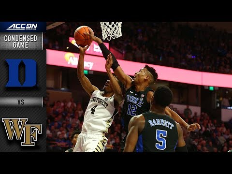 Duke vs. Wake Forest Condensed Game | 2018-19 ACC Basketball