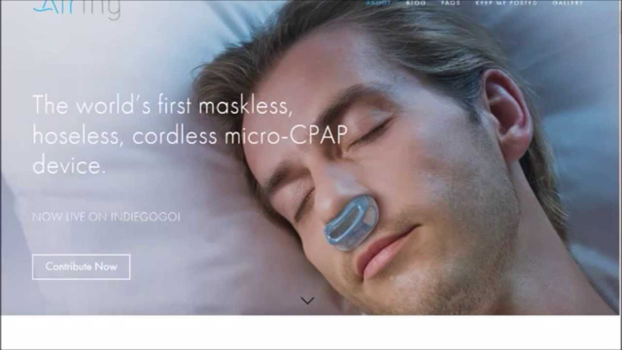 Airing The Maskless Hoseless Cordless Micro Cpap