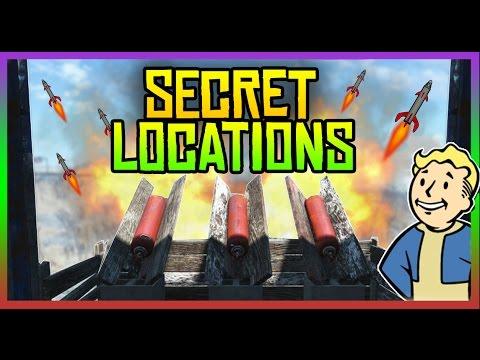 Fallout 4 Secret Locations - Active Missile Launcher, Races & More!  (Fallout 4 Hidden Places)