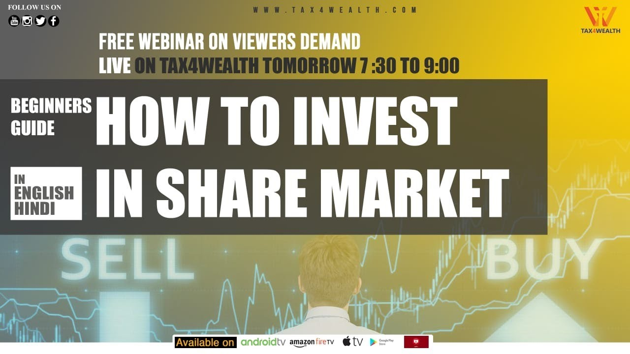 Live Webinar at 7.30 PM on How to invest in share market beginners guide with Mr. Pushkar Anand