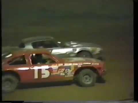 1987 Beckley Motor Speedway (WV) pure street stocks heat race Keith Bills wins, Terry Maxie 2nd