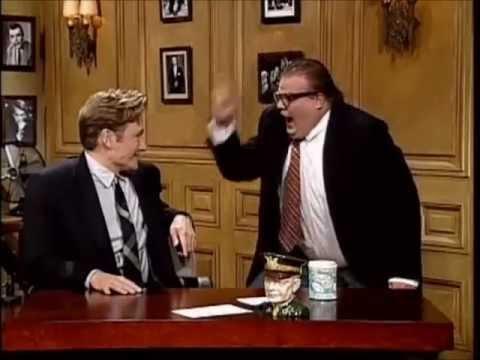Chris Farley flips out on Conan O'Brien