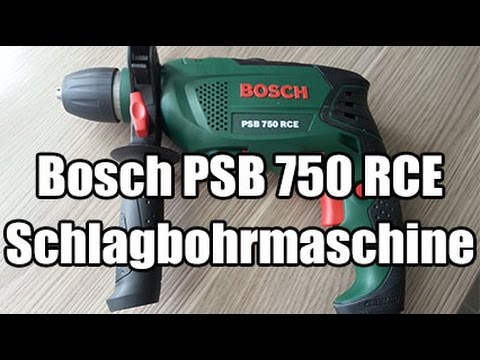 bosch psb 750 rce schlagbohrmaschine youtube. Black Bedroom Furniture Sets. Home Design Ideas