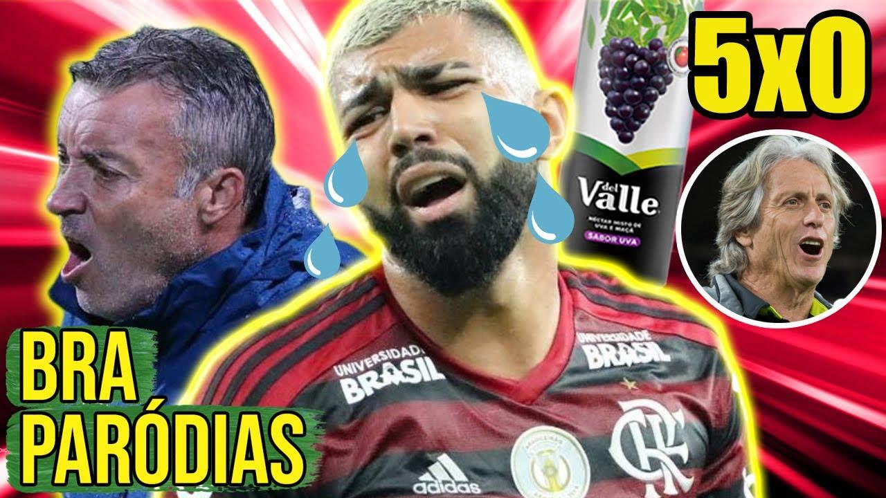 ♫ FLAMENGO LEVA 5X0 DO DELL VALE + RESUMÃO DA LIBERTA   Paródia Buquê de Flores - Thiaguinho