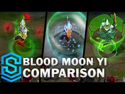 Blood Moon Master Yi VS All Previous Skins | Skin Comparison