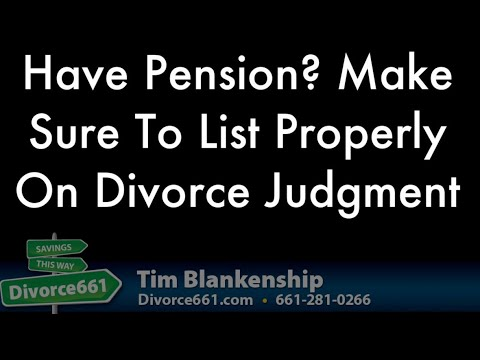 Problems with divorce judgment issues with pension qdro youtube problems with divorce judgment issues with pension qdro solutioingenieria Images