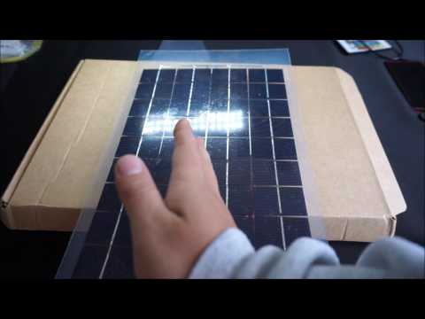 Panel solar 12V 10W 38 X 22 CM PolyCrystalline Transparent  Solar Panel