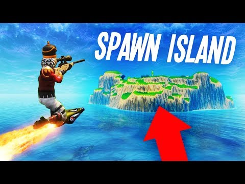 ROCKET RIDING to SPAWN ISLAND on Fortnite!