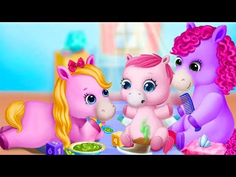 Маленькие Пони Уход За Малышом.Стань Лучшей Няней для Малышки Пони.Мультик Игра для Детей