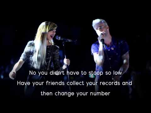 Christina Grimmie & Adam Levine  Somebody That I Used To Know Lyrics