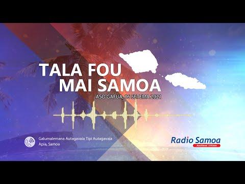 Radio Samoa - News from Samoa (06 SEP 2021)