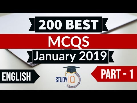 Best 200 January 2019 Current Affairs in ENGLISH Part 1 - Finest MCQ for all exams by Study IQ
