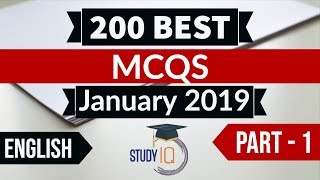 Download Video Best 200 January 2019 Current Affairs in ENGLISH Part 1 - Finest MCQ for all exams by Study IQ MP3 3GP MP4