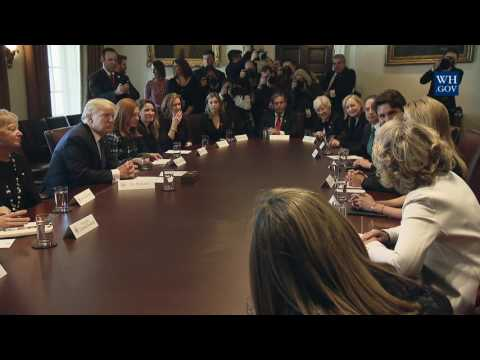 President Trump Participates in a Roundtable