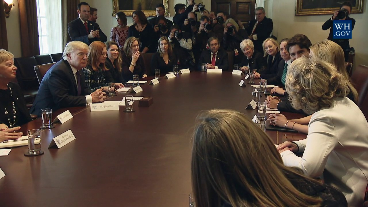 Trump Round Table.President Trump Participates In A Roundtable