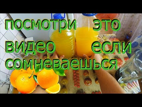 9 литров сока из 4 апельсинов в домашних условиях