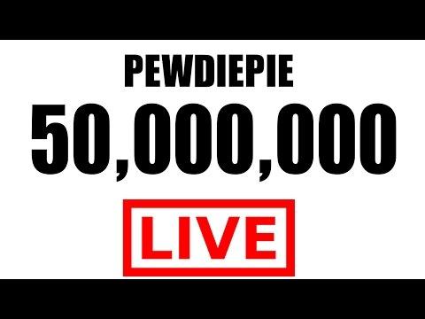 ► PEWDIEPIE LIVE SUBSCRIBER COUNT ◀ 50,000,000 PEWDIEPIE DELETE CHANNEL ?! HUGE GIVEAWAY!!!