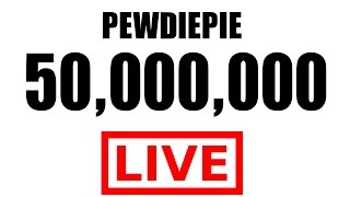 ► PEWDIEPIE LIVE SUBSCRIBER COUNT ◀ 50,000,000 PEWDIEPIE DELETE CHANNEL ?! HUGE GIVEAWAY!!!