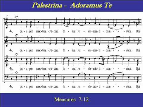 Palestrina  Adoramus Te  Tenor  Scorewmv