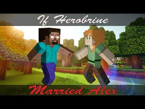 minecraft steve and alex and herobrine