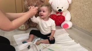 Развивающее видео   Учим цвета красками Learn colors Веселая песенка Обучение малышей цвету красками