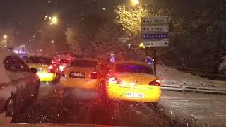 Karda Kaza Yapan Arabalar Car accidents