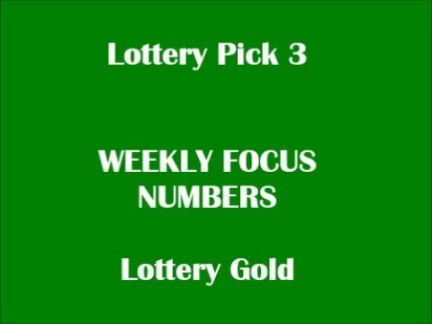 NEW! Lottery CASH/PICK 3 FOCUS NUMBERS© - August 4th through August 10th  2019