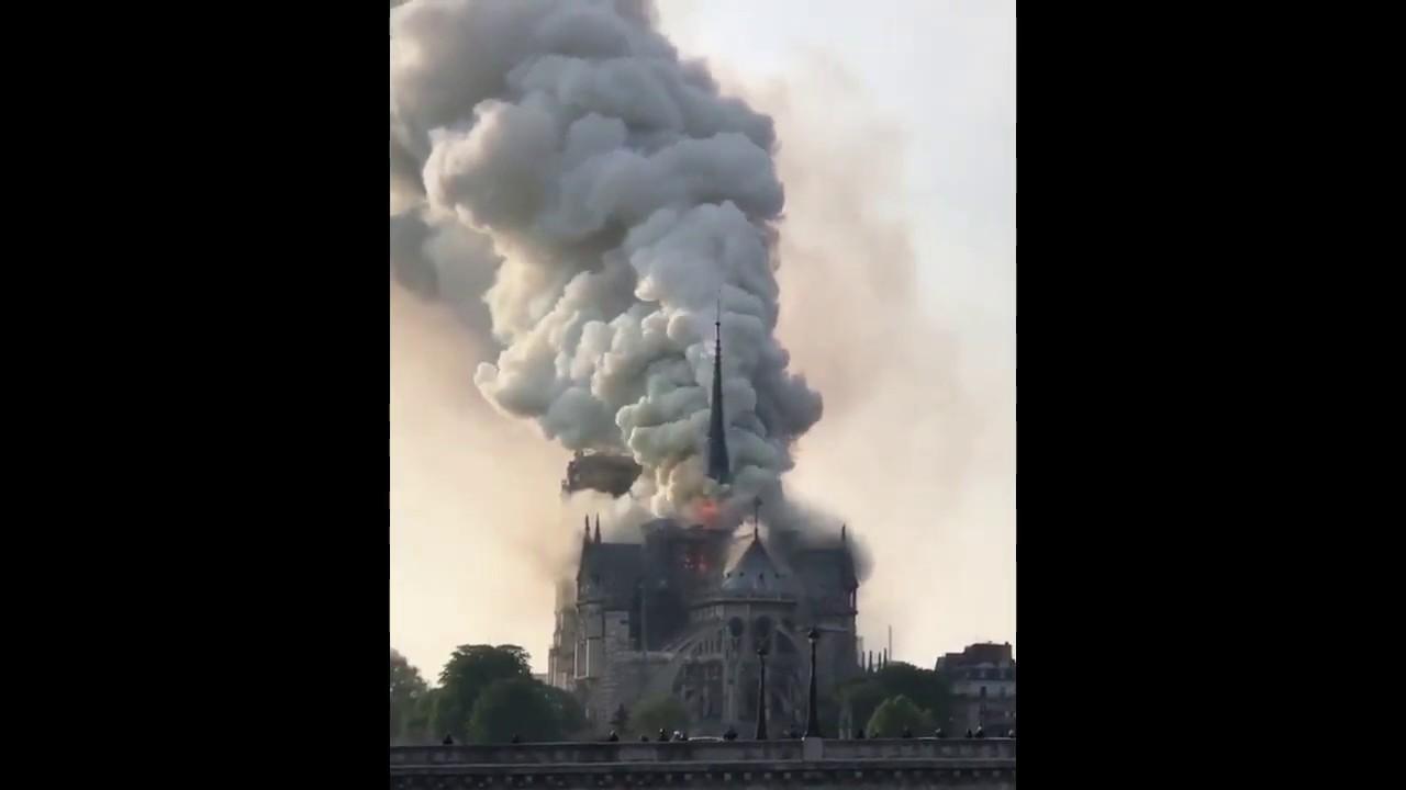 Imagem Paris Incêndio Notre Na Veja Dame Youtube - Da Em Catedral De