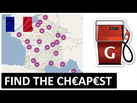 FRANCE 🇫🇷 HOW TO FIND ⛽️ THE CHEAPEST FUEL